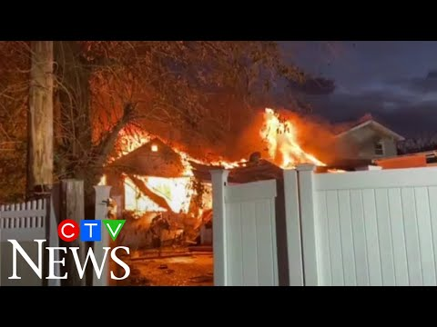Caught on cam: Gas explosion destroys houses in New York