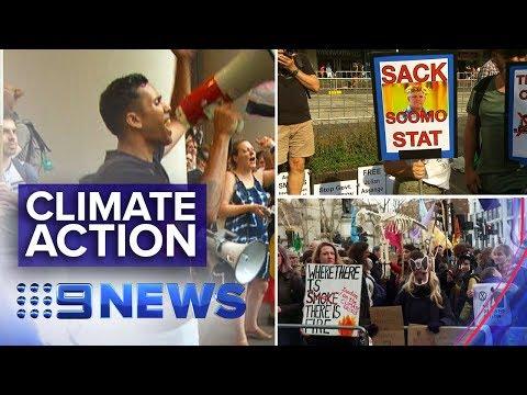International Call For Climate Change Action In Australia   Nine News Australia