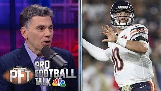 Did Chicago Bears bench Mitch Trubisky late in SNF loss? | Pro Football Talk | NBC Sports