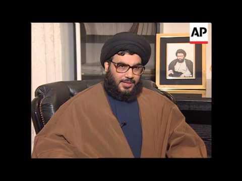 Lebanon - Interview Hezbollah leader Nasrallah