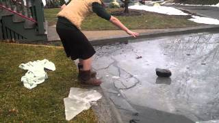 Breaking the Ice (another Koi pond adventure)