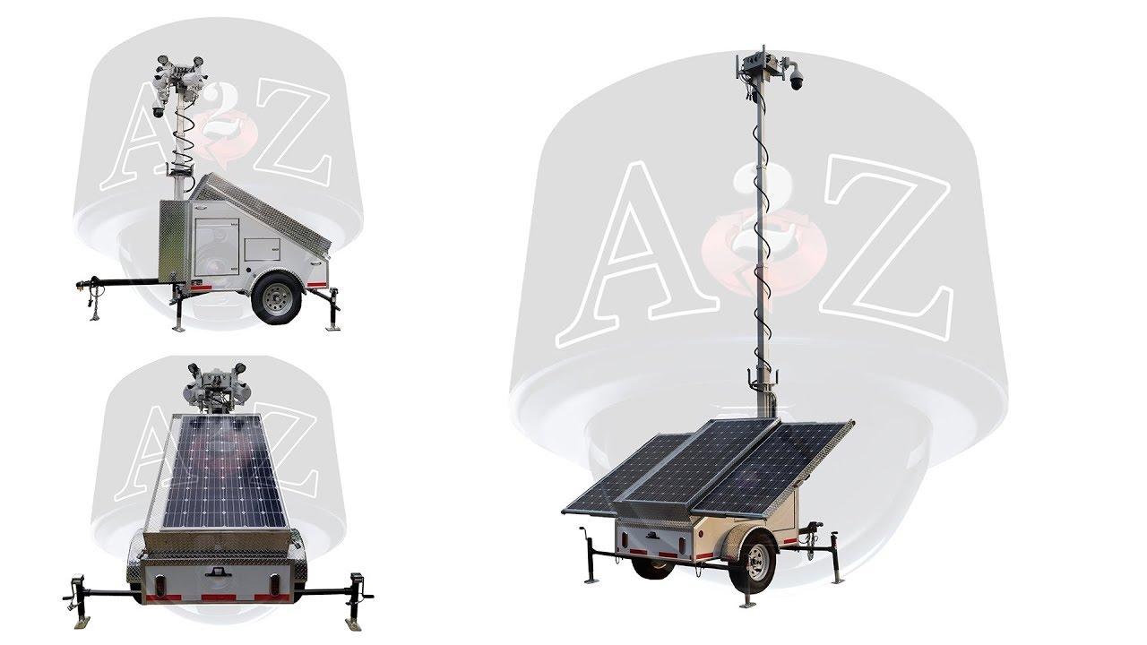 A2Z MMST EZ | 4G Solar Surveillance Trailer Day HD Video Demo