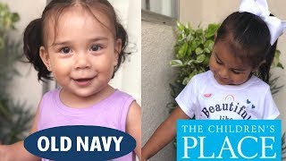 toddler clothing haul | old navy and the children