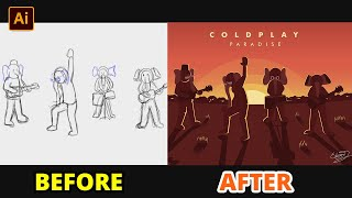 CARA MEMBUAT ILUSTRASI VECTOR DARI VIDEO CLIP DI ADOBE ILLUSTRATOR | Adobe Illustrator Tutorial #12