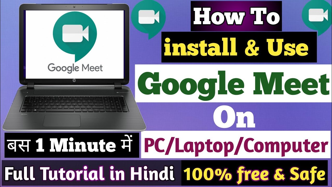 How to Download Google Meet on LaptopHow to install Google Meet in  LaptopGoogle Meet on PC