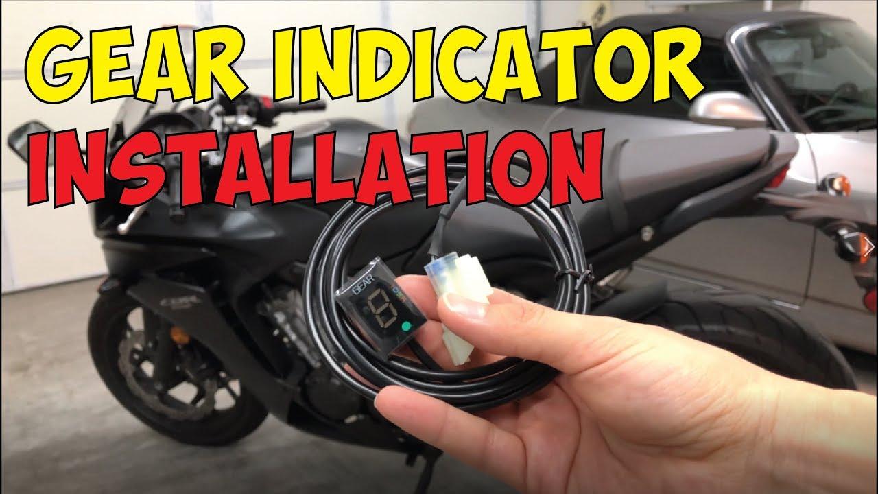 Motorcycle Gear Indicator Installation Honda Cbr650f Youtube