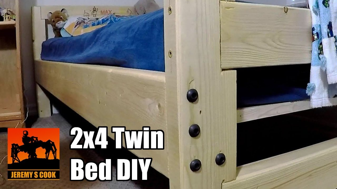 Wooden Twin Bed Diy Youtube