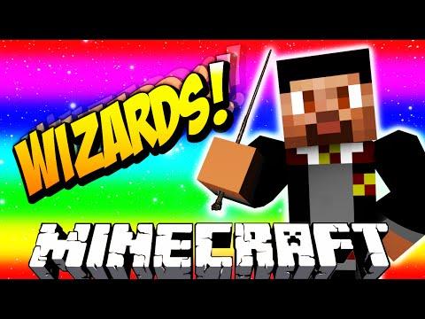 Minecraft WIZARDS #1 with Vikkstar, Jerome & Preston (Minecraft Magic PVP)