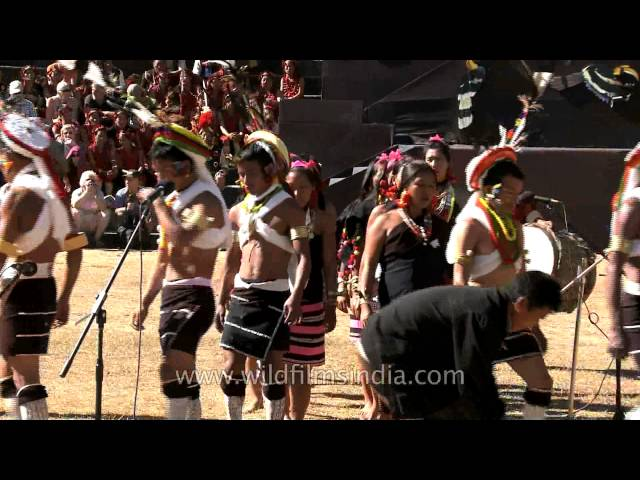 Zeliang Naga dance and folk song at Hornbill festival, Nagaland Travel Video