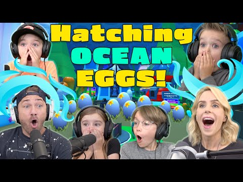 Hatching OCEAN EGGS!! We Play the Roblox Adopt Me Update! Best Pet Wins Special Surprise!