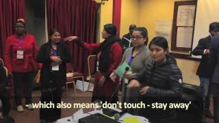Sign language for 'menstruation' in Nepal, Training of Trainers, February 2017
