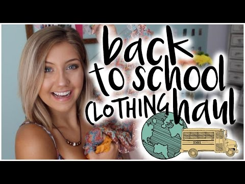 BACK TO  SCHOOL CLOTHING HAUL (pt. 1)