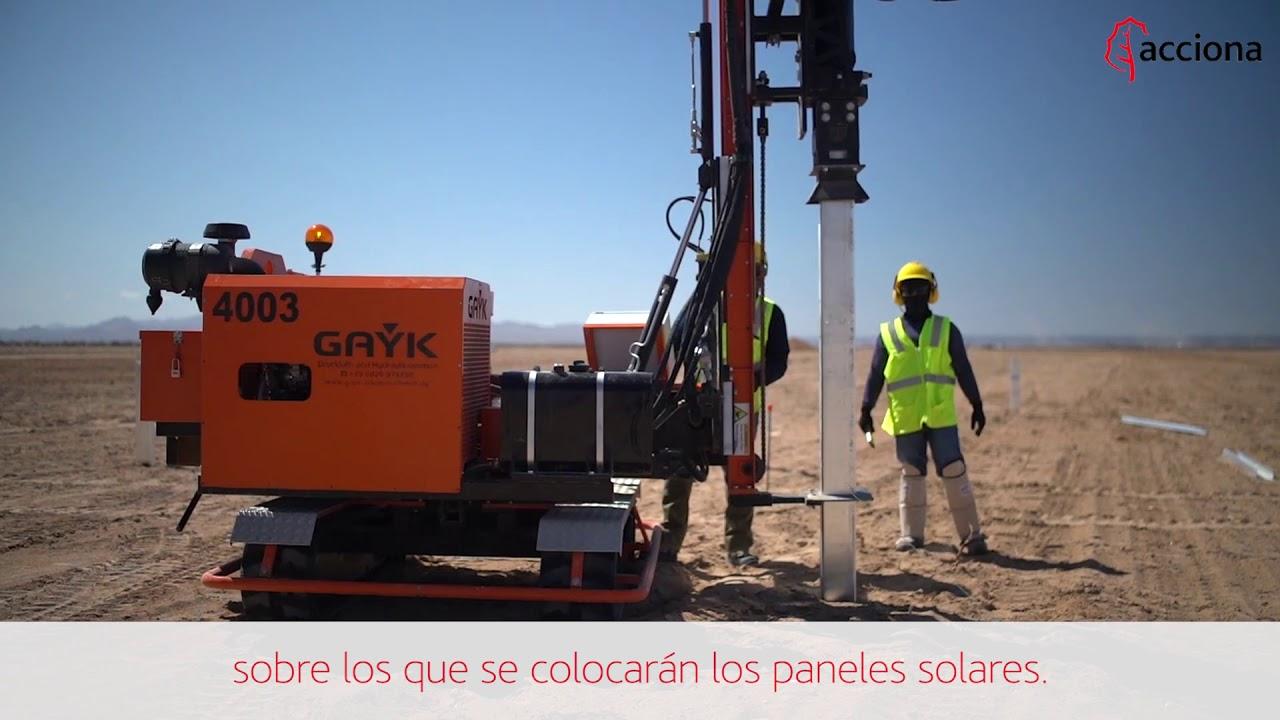 Un mar fotovoltaico en el desierto de Sonora (México) | Primeros trabajos ACCIONA