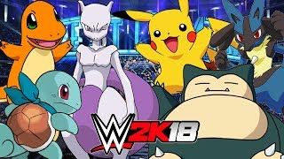 POKEMON 6-MAN TAG TLC MATCH | WWE 2K18 Gameplay
