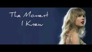 The Moment I Knew - Taylor Swift ( Karaoke/ Instrumental)