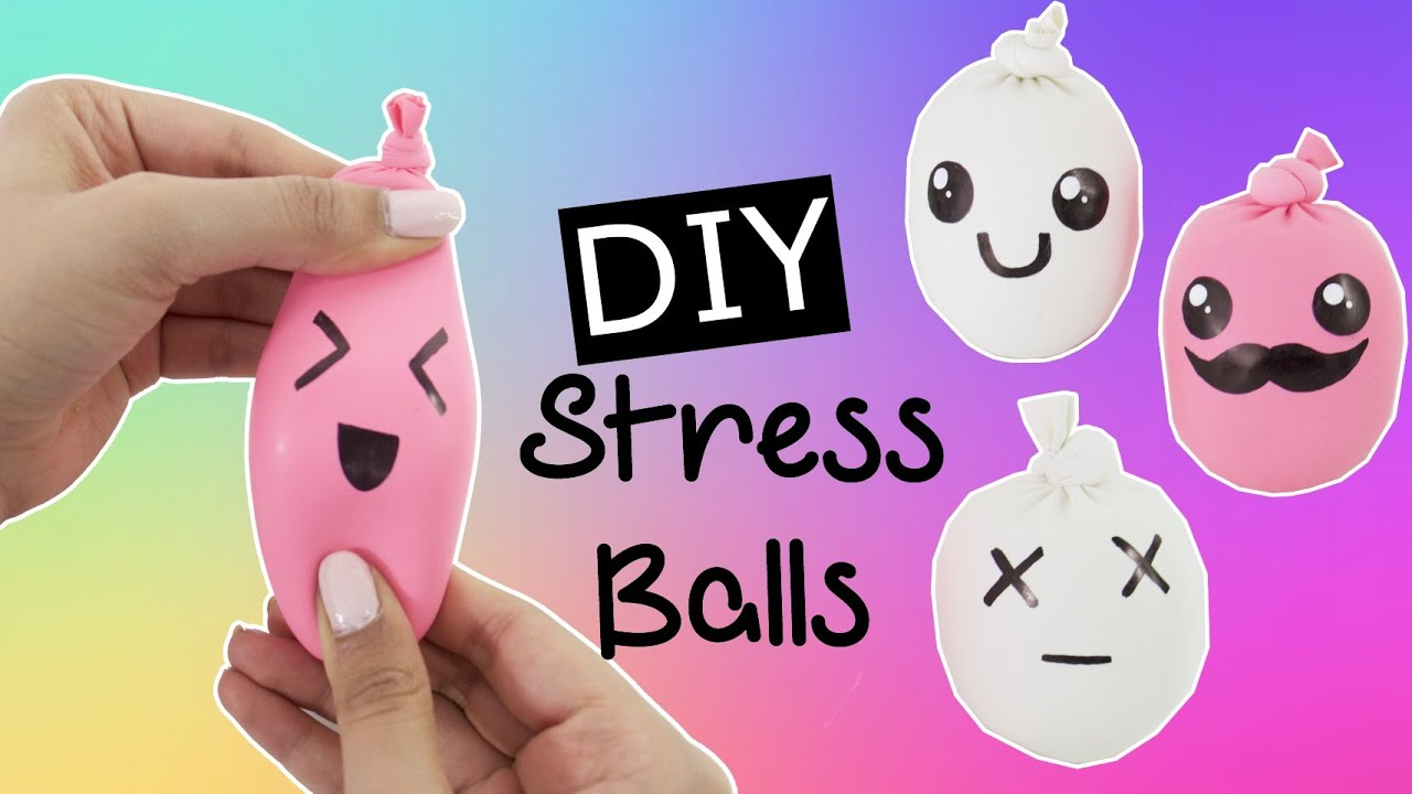 Diy Squishy Amp Cute Stress Ball Fun Amp Easy Youtube