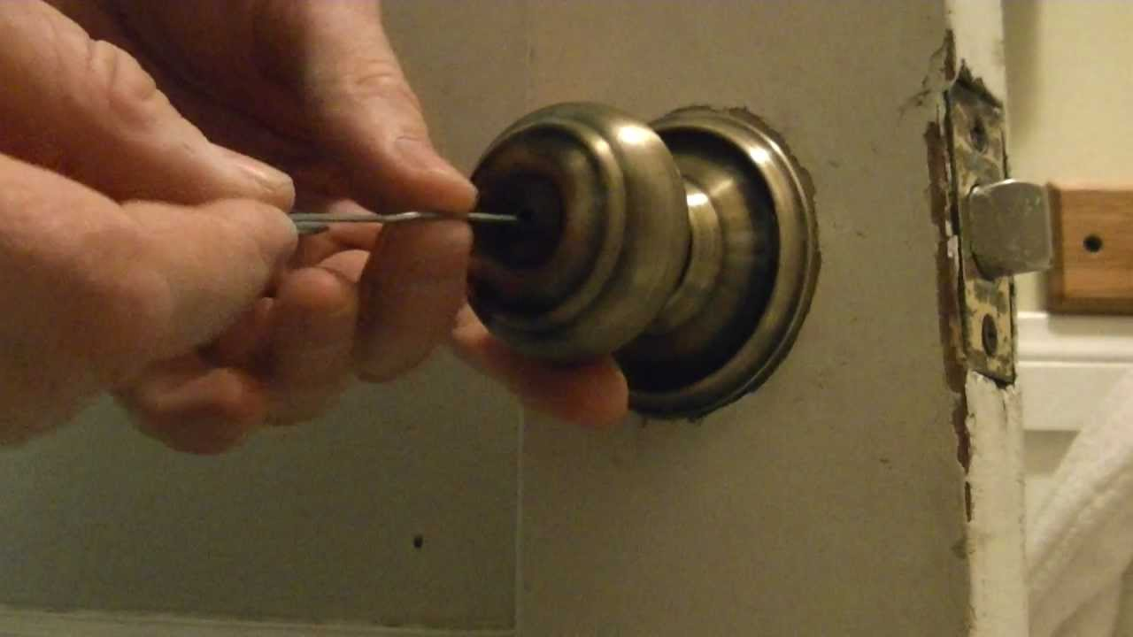 Interior Door Lock Types how to pick a bathroom door lock - youtube
