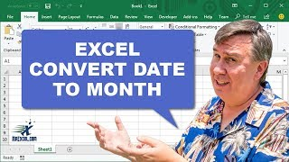 Learn Excel - 15 Years Ago Today - Convert Date to Month - Podcast 1829