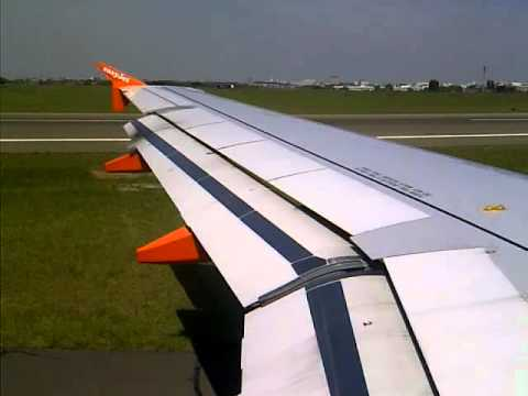 Easyjet airbus landing and taxing paris orly terminal sud youtube - Comptoir easyjet orly sud ...