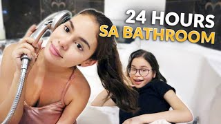 24 HOURS BATHROOM CHALLENGE | IVANA ALAWI
