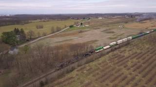 Norfolk Southern Stack Train crosses CSX at Shenandoah Junction