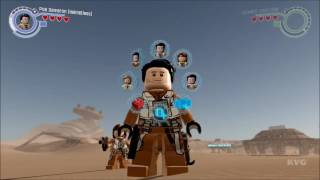 142  LEGO Star Wars  The Force Awakens   All Poe Dameron Characters   Free Roam Gameplay HD
