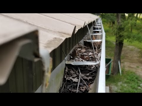 Installing shop gutters with no fascia