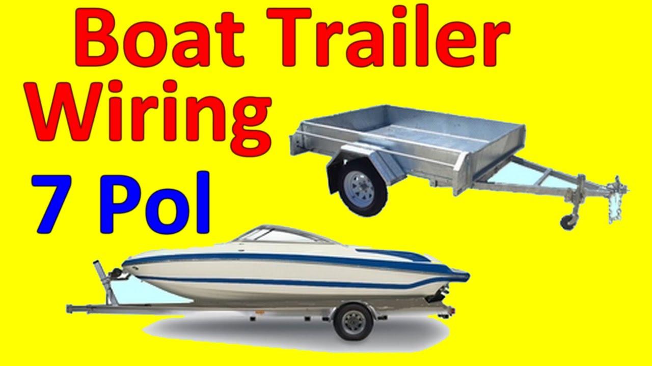 7 Pin Trailer Boat Wiring Diagram  YouTube
