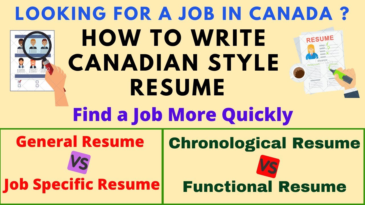 Write Canadian Style Resume 2020 Looking For A Job In Canada Write Job Specific Resume Format Youtube