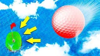 ПОПАЛ С ПЕРВОГО РАЗА В МАЛЕНЬКУЮ ЛУНКУ С ОГРОМНОЙ ВЫСОТЫ! САМАЯ СЛОЖНАЯ КАРТА В ГОЛЬФ ИТ (Golf It)