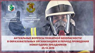 Актуальные вопросы пожарной безопасности в образовательных организациях. 25 12 2018