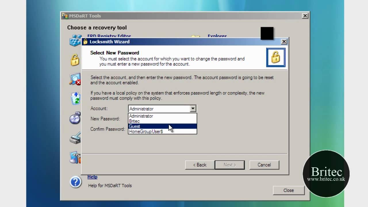 ERD Commander 2010 - for Vista & Windows 7 (MSDaRT 6 0, 6 5