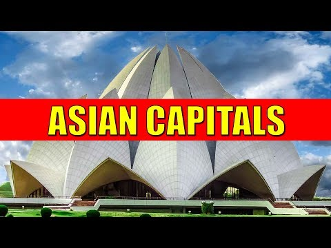 ASIAN CAPITALS - Learn Countries and Capital Cities of Asia with Flags