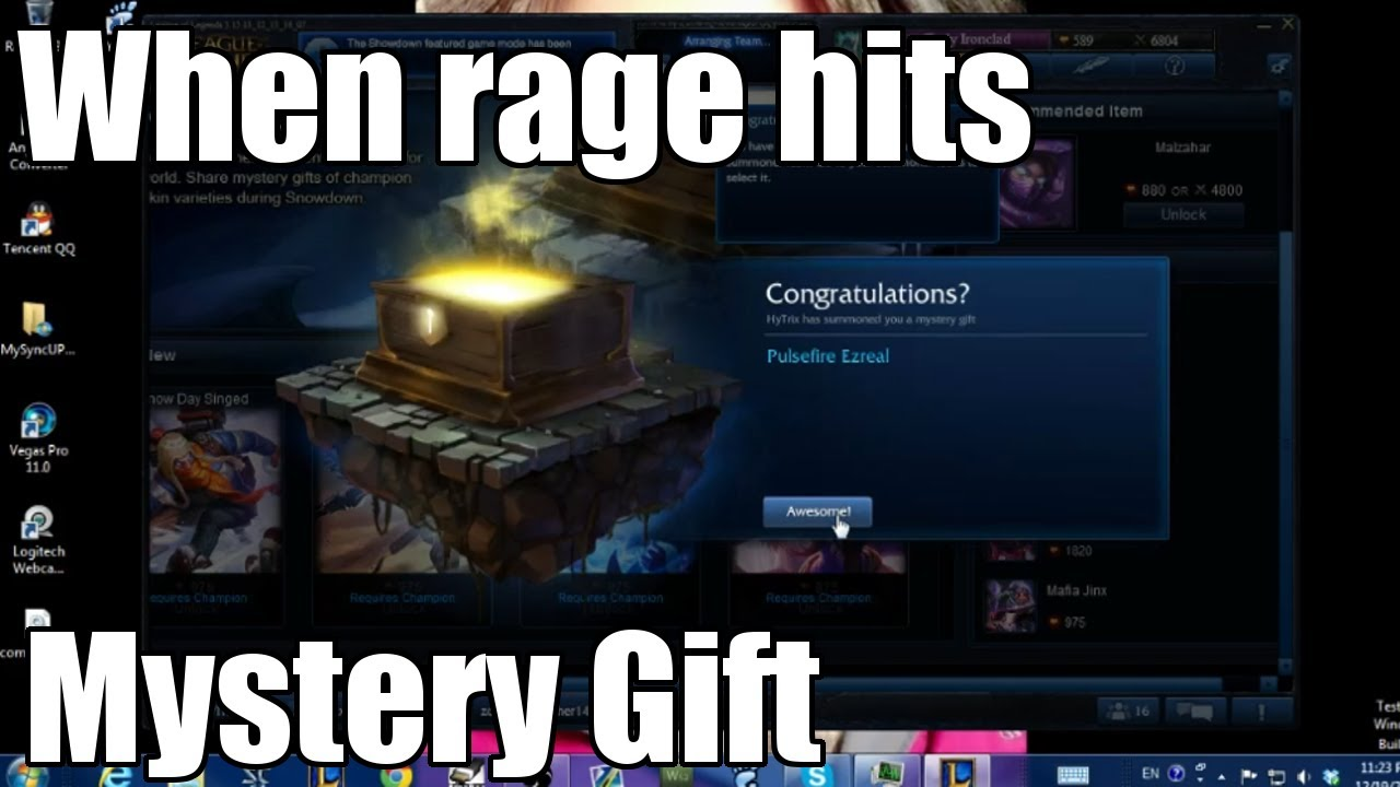 League of Legends Rage Pulsefire Ezreal Mystery Gift - YouTube