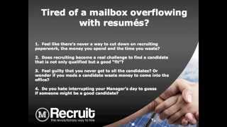 M-recruit (tm) Hire Quickly And Accurately