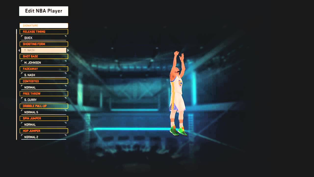 Stephen Curry jumpshot NBA 2K15 - YouTube