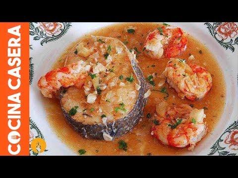 Merluza En Salsa Con Gambas Recetas De Pescados