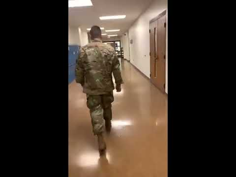The Randy, Jamie and Jojo Show  - Soldier Surprises His Little Brother At School