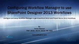 Configuring Workflow Manager to use SharePoint Designer 2013 Workflows
