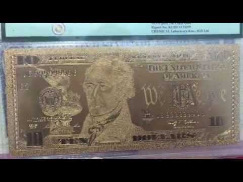 Pure Gold Leaf Dollars 100-50-20-10-5-2-1