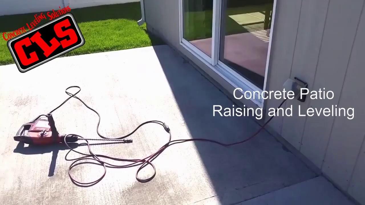 Concrete Patio Raising And Leveling   YouTube