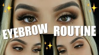 MY EYEBROW ROUTINE | Aidette Cancino