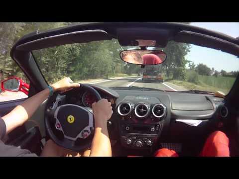 Ferrari F430 Spider test drive in Maranello.