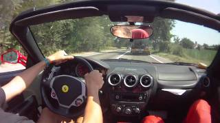 Ferrari F430 Spider test drive in Maranello.