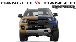 Ford Ranger Raptor vs Ford Ranger