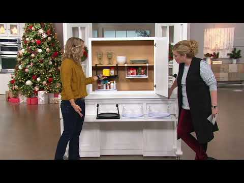 Set of 2 Cabinet and Pantry Shelf-Go-Round Organizers on QVC