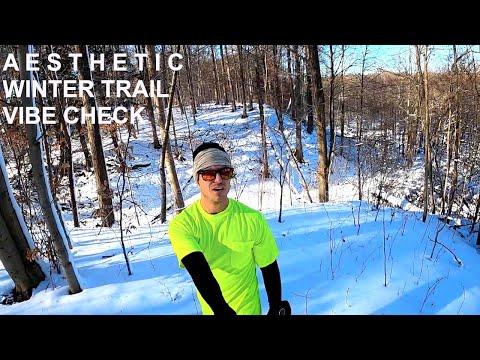 Chill Winter Trail Run Through Peaceful Woods