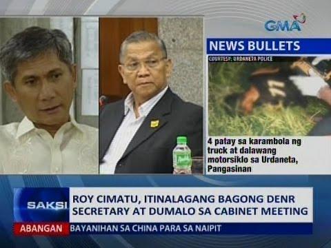 Saksi: Roy Cimatu, itinalagang bagong DENR Secretary at dumalo sa cabinet meeting