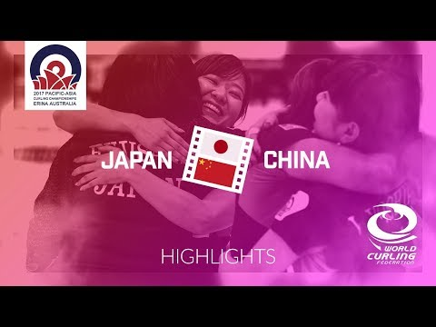 HIGHLIGHTS: Japan v China - Women Semi-final - Pacific-Asia Curling Championships 2017