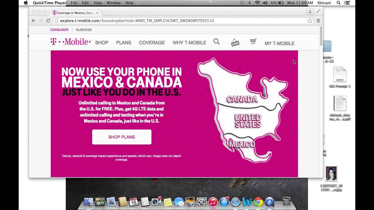 T mobile network has been extended to canada and mexico for Mexico mobel